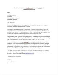 Cover Letter Internship Sample
