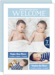 twin birth announcements photo cards baby boy birth announcements
