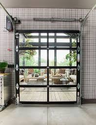 inside the urban oasis 2018 garage unexpected yet stylish contemporary design elements like a clopay avante collection gl garage door connect the