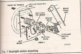 i am attempting to the brake light switch on my 1999 winneba