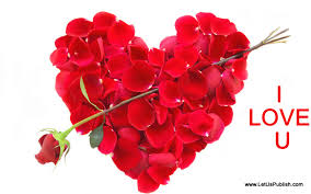 romantic roses heart hd image with i