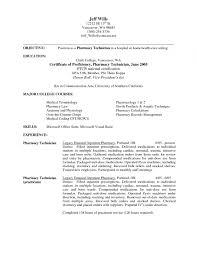 Pharmacy Technician Resume Sample For Hospital Pharmacy Technician