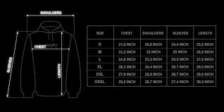 Yeezy Hoodie Size Chart