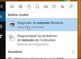 tester sa mémoire ram avec windows 10