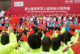 7th CISM Military World Games Torch Relay held in Wuhan ...
