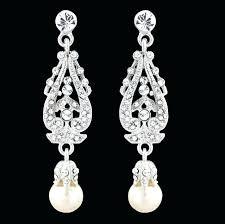 unique vintage chandelier earrings or bridal vintage chandelier pearl earrings dangle vintage earrings crystal pearl bridal