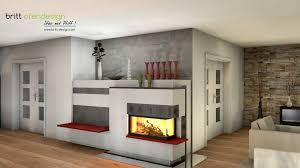 047 Britt Ofendesignfireplacedesign Kachelofen Modern Tiled Stove Contemporary