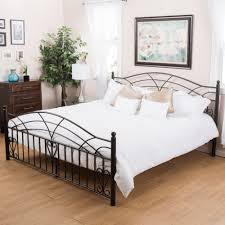 iron bedroom furniture. Queen Size Black Iron Bed Frame Bedroom Furniture Finish Metal