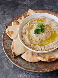 clic baba ghanoush recipe for smoky middle eastern roasted eggplant dip with tahini garlic