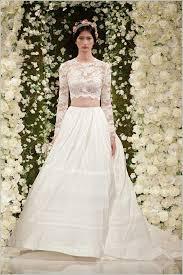 Designer Hochzeitskleider Reem Acra Zweiteilig Hochzeitskleid Top