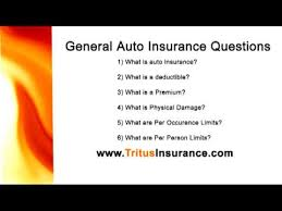 General Insurance Questions Auto YouTube Delectable General Insurance Quotes