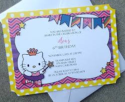 Hello Kitty Party Invitation Amazon Com Hello Kitty Party Invitation Handmade