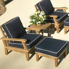 outdoor chair with ottoman. Miami Deep Seating Chairs With Ottoman And Side Table. Teak Outdoor Patio Furniture Chair O
