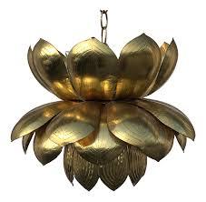 feldman lotus hanging brass pendant