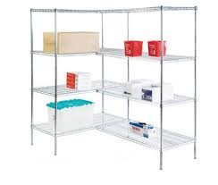 4 shelf shelving unit wire stainless steel r183672ca 4