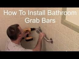 how to install bathroom grab bars