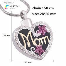 custom made heart shaped mom urns funeral cremation necklace pendant fashion keepsake