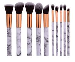 marble makeup brushes. marble rose gold makeup brush set (10 piece) marble makeup brushes p