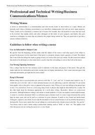 Memos Business Professional And Technical Writing Business Communications Memos