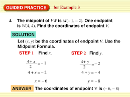Endpoint Formula Ppt The Midpoint Formula Powerpoint Presentation Id 4834807