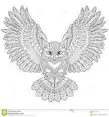 Owl Coloring Page Adult Coloring Book
