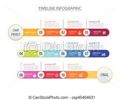 Infographic Timeline Template Business Concept Arrows Vector Can Be