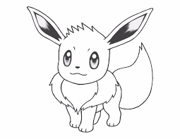 Small Picture Pokemon Coloring Pages Eevee Eevee Pokemon Coloring Page Free