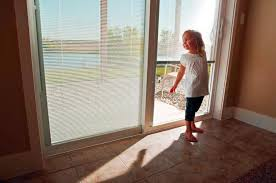 sliding door with built in blinds