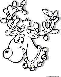 Small Picture Top 69 Reindeer Coloring Pages Free Coloring Page