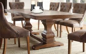 image of rustic tufted dining room chairs