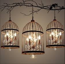 vintage crystal birdcage chandelier pendant light lamp restaurant villa decor