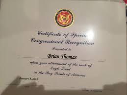 Sample Congress Man Recognition Letter Inspirationa Eagle Scout ...