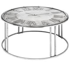 coffee table round clock top