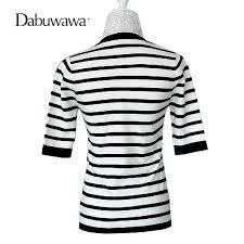Dabuwawa <b>Autumn</b> Half Sleeve Crew Neck Slim Fit Knitwear Basic ...