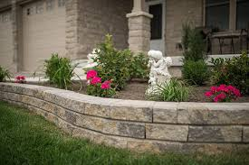 retaining walls flower beds a touch