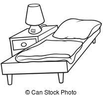 bed clipart black and white.  Clipart Bed Clipart Black And White U0026 Clip Art Images  With I
