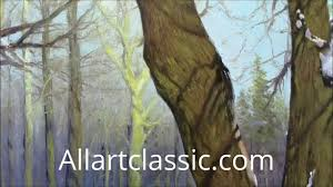 oil painting lesson allartclassic how to paint trees in oil you