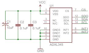 decoupling capacitor schematic