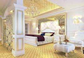 Awesome White And Gold Bedroom And Extraordinary Design Ideas White ...