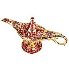wispun aladdin magic genie lamps vintage incense burners magic genie light lamp for home table