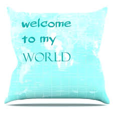 outdoor welcome pillow throw pillows east urban home to my world e by inserts 13 x