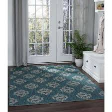 indoor outdoor area rug veranda teal 5 ft x 7 ft indoor outdoor area rug