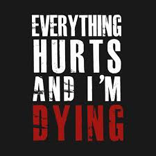 Everything Hurts And I'm Dying Quotes Everything Hurts And Im Awesome Dying Quotes