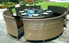 rounded outdoor furniture circle patio s round table cover with umbrella hole wicker nz rounded outdoor furniture