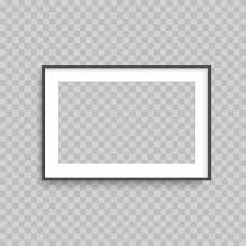 Realistic <b>transparent square photo frame</b> Vector | Premium Download