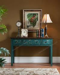 wooden console table antique side table