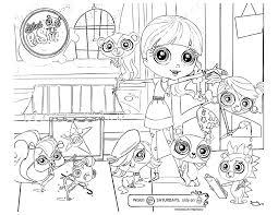 Lps Coloring Pages Pictures Littlest Pet Shop Zoe Trent Adult
