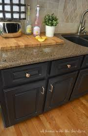 kitchen makeover reveal with painted cabinets