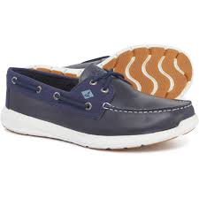 sperry sojourn 2 eye boat shoes leather for men in navy