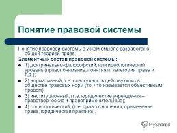 Презентация на тему КЛАССИФИКАЦИЯ ПРАВОВЫХ СИСТЕМ Ассистент  6 Понятие правовой системы